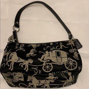 Coach Horse & Carriage Black Mini Shoulder Bag